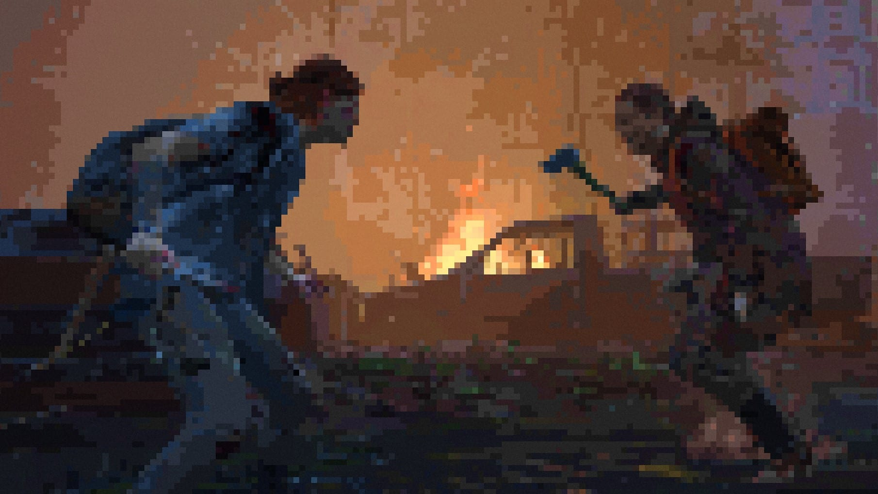The Last of Us 2 Mod Grafik Pixel Retro