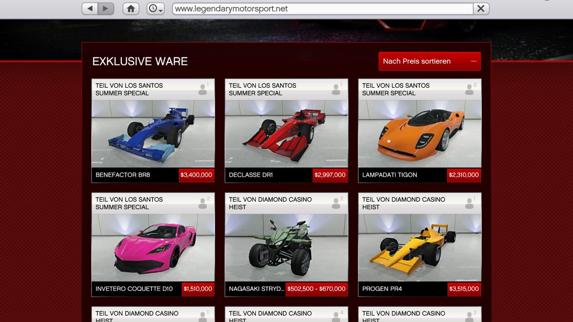 GTA Online - Legendary Motorsport Summer Special