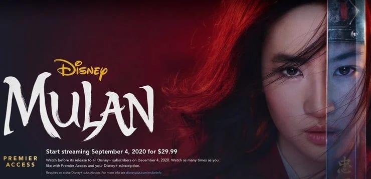 Mulan Disney Plus kostenloser Release