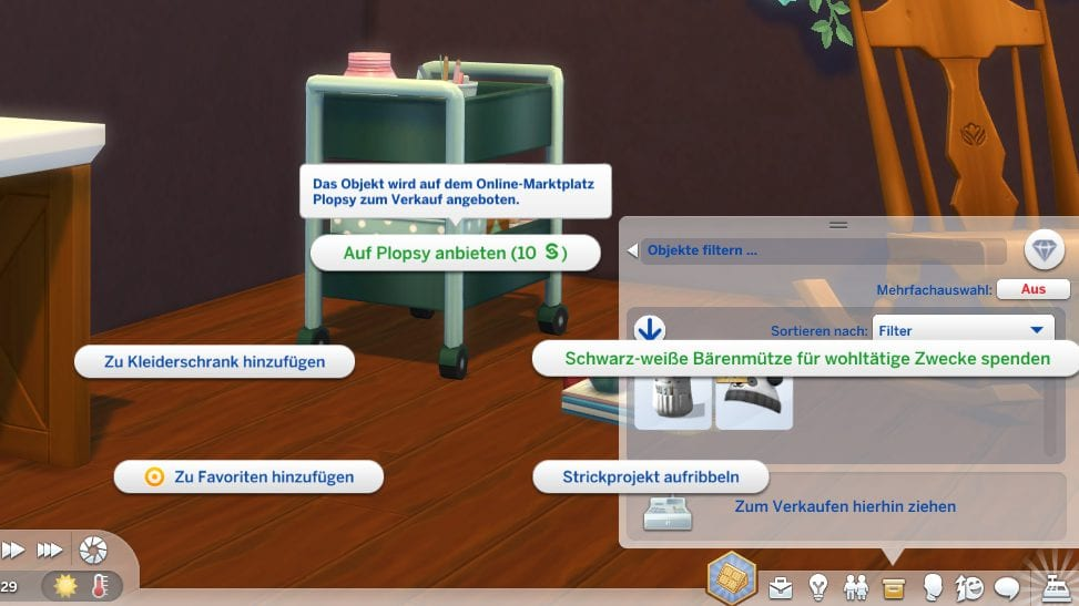 Die Sims 4 Schick mit Strick Plopsy