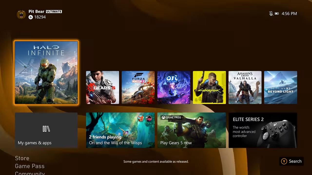 Xbox Series X - Dashboard