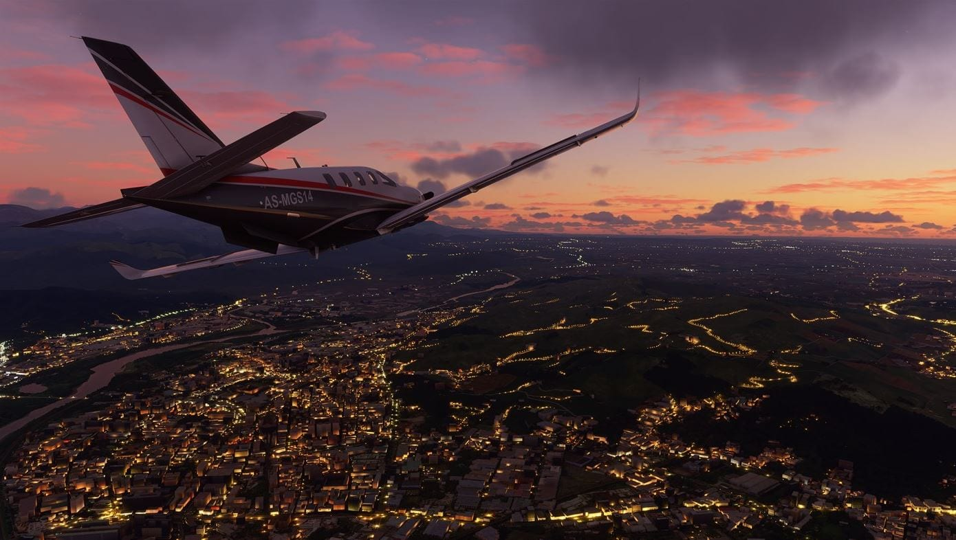 Flight Simulator 2020 - Nacht