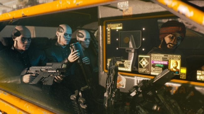 Cyberpunk 2077 Taxi