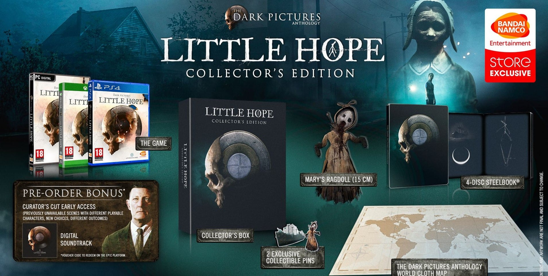 The Dark Pictures Anthology Little Hope Collector's Edition