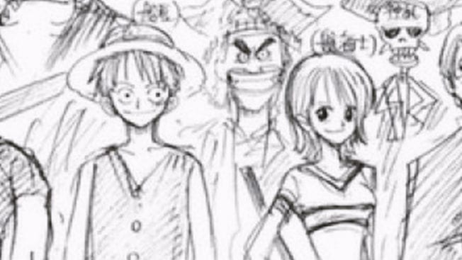 One Piece Konzept-Art der Figuren