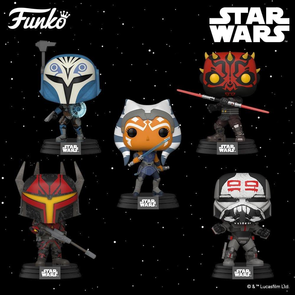 Star Wars The Clone Wars - Funko Pop Figuren inklusive Ahsoka und Darth Maul