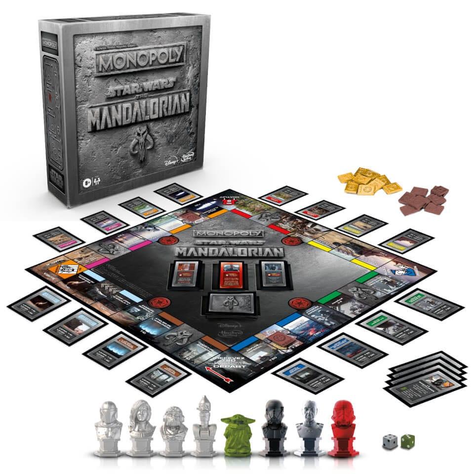 Star Wars The Mandalorian Monopoly - Spielbrett und Figuren