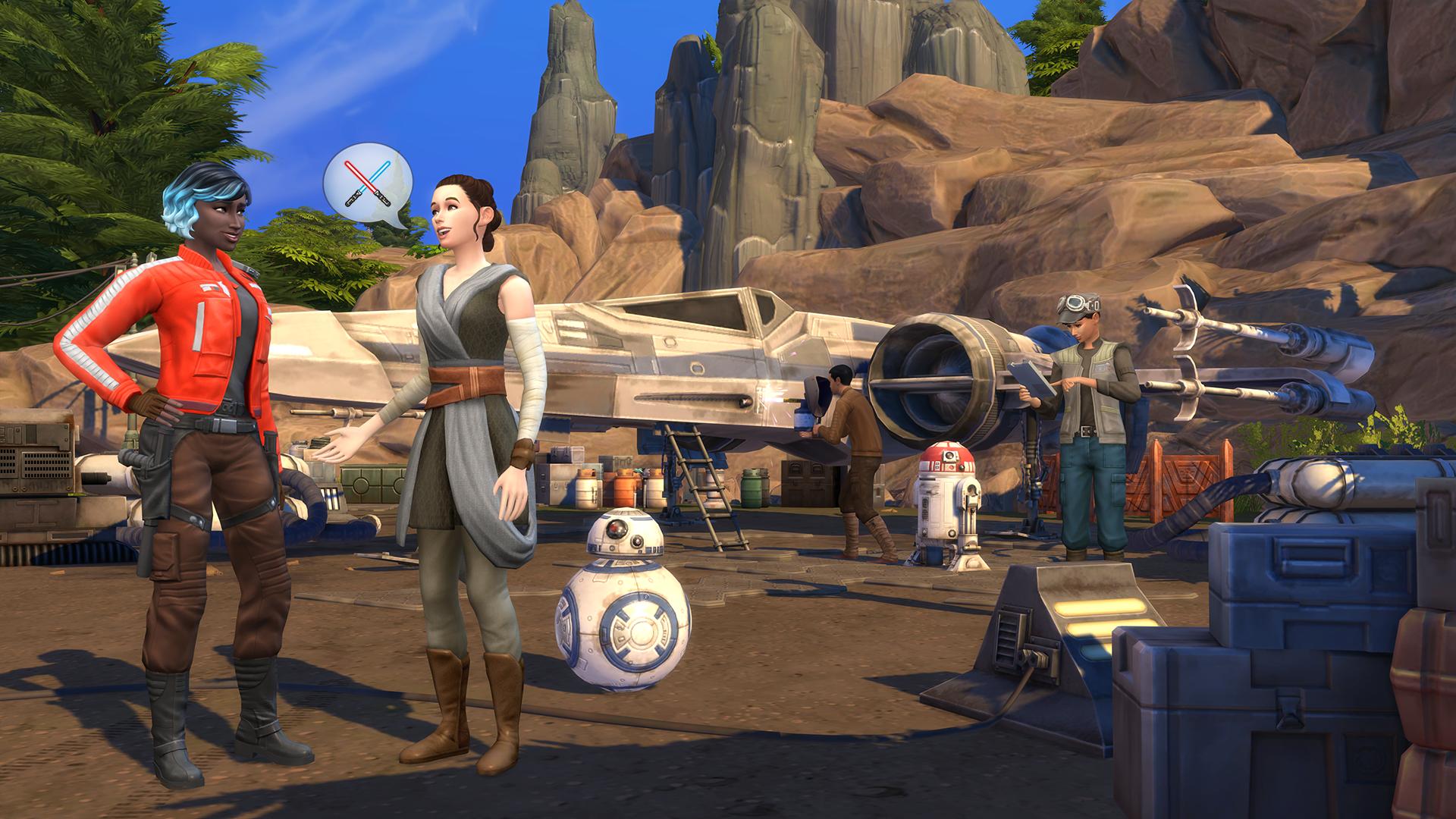 Die Sims 4 Reise nach Batuu Star Wars Cheats