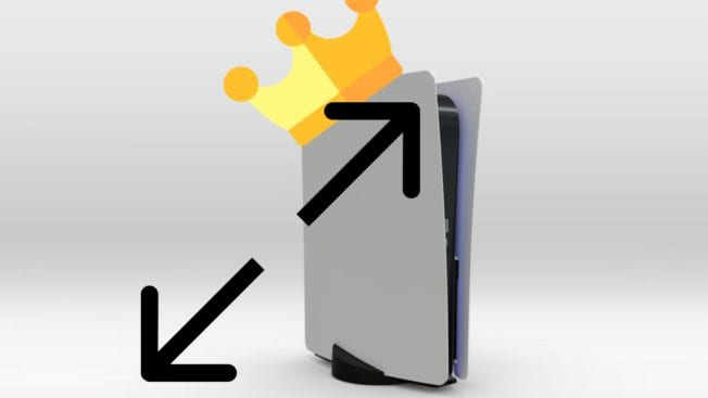 PS5 Größe größte Konsole