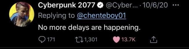 Cyberpunk 2077 Release verschoben
