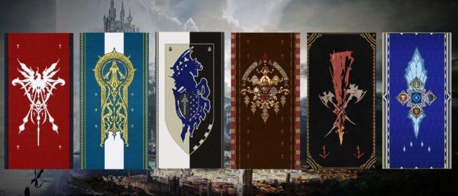 Final Fantasy 16 Welt Valistheas mit ihren 6 Reichen.