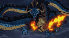 One Piece, Anime, Kaido, Drachenform