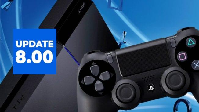 PS4 Firmware Update 8.00