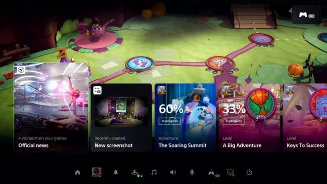 PS5-Benutzeroberfläche UI