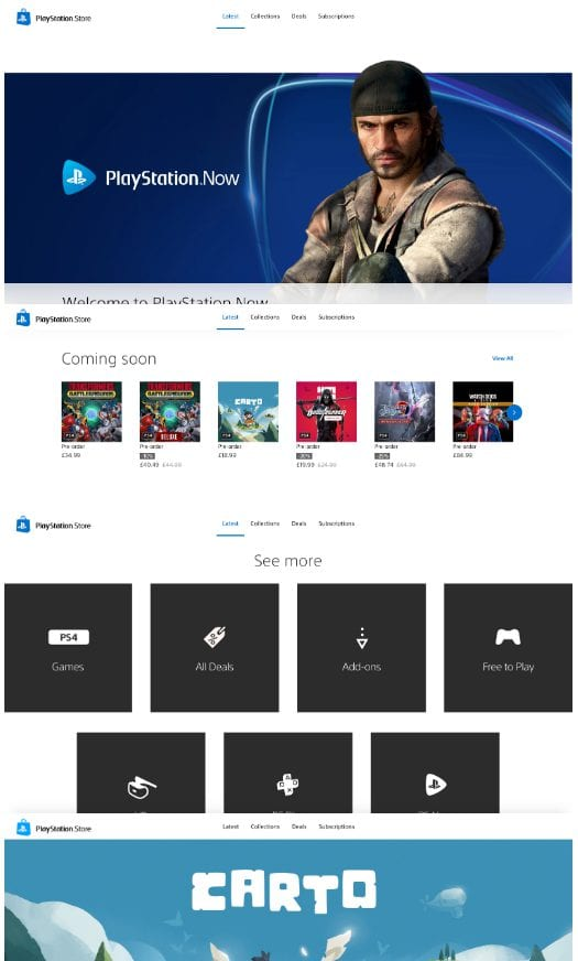 PS5 PS Store PlayStation Website