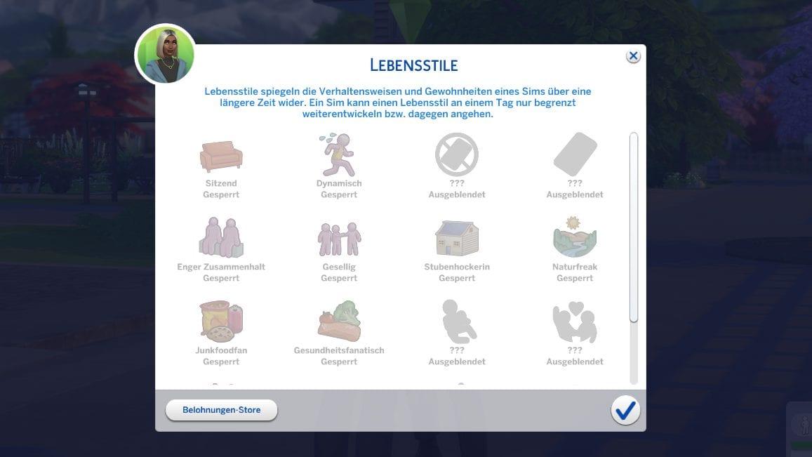 Die Sims 4 Lebensstil