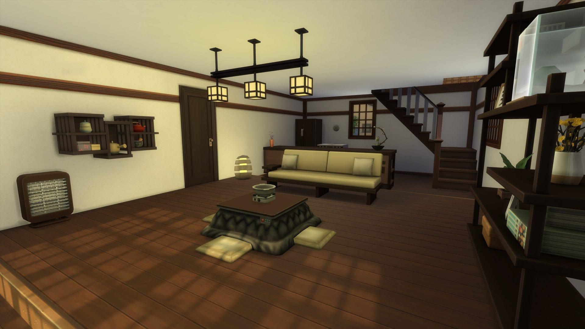 Sims 4 Schneeparadies Möbel Japanisch