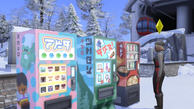 Sims 4 Schneeparadies Verkaufsautomaten
