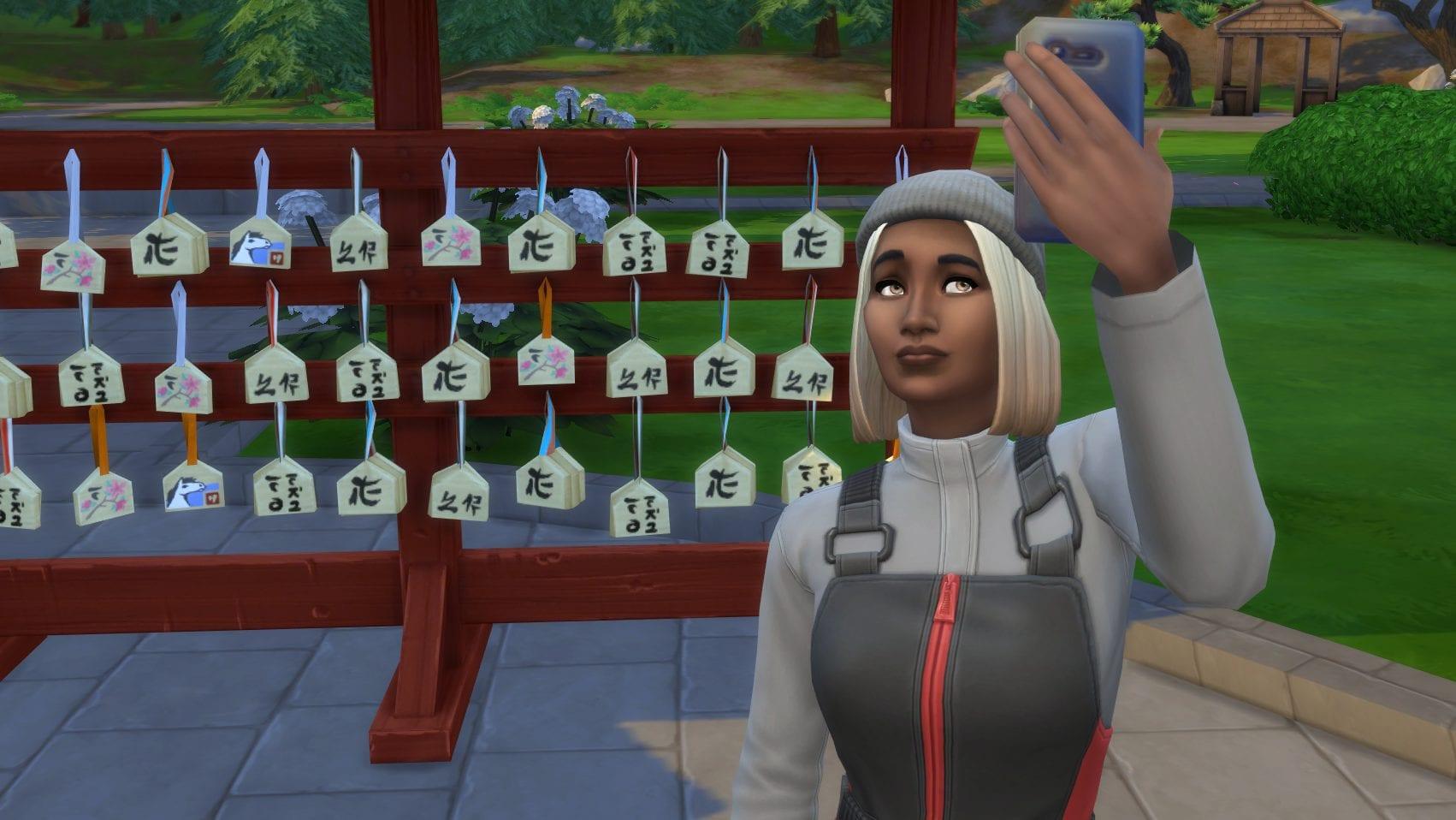 Die Sims 4 Ab ins Schneeparadies Wandern Selfie