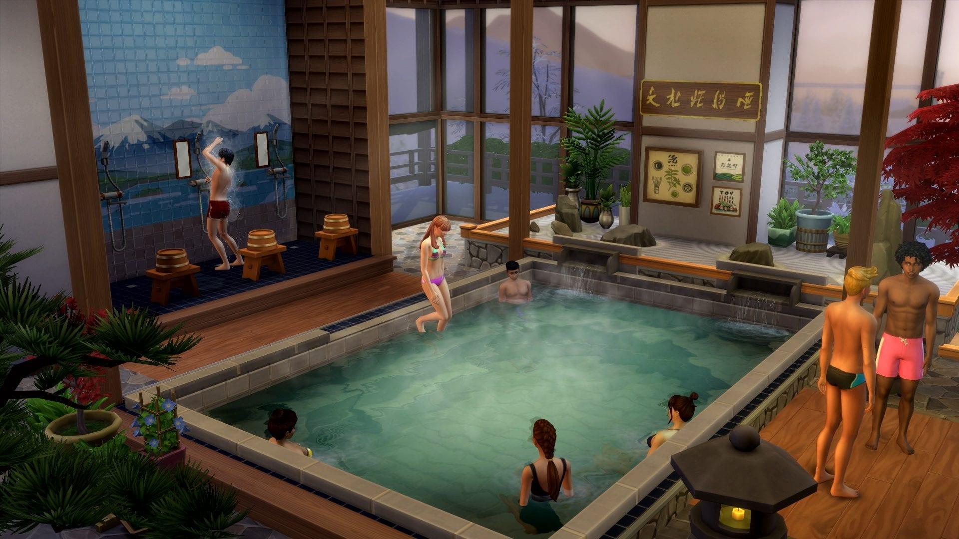 Die Sims 4: Ab ins Schneeparadies Badehaus