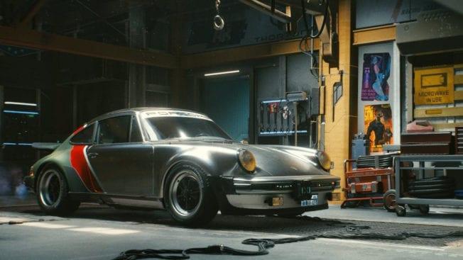 Cyberpunk 2077 Porsche ausgestellt Johnny Silverhand