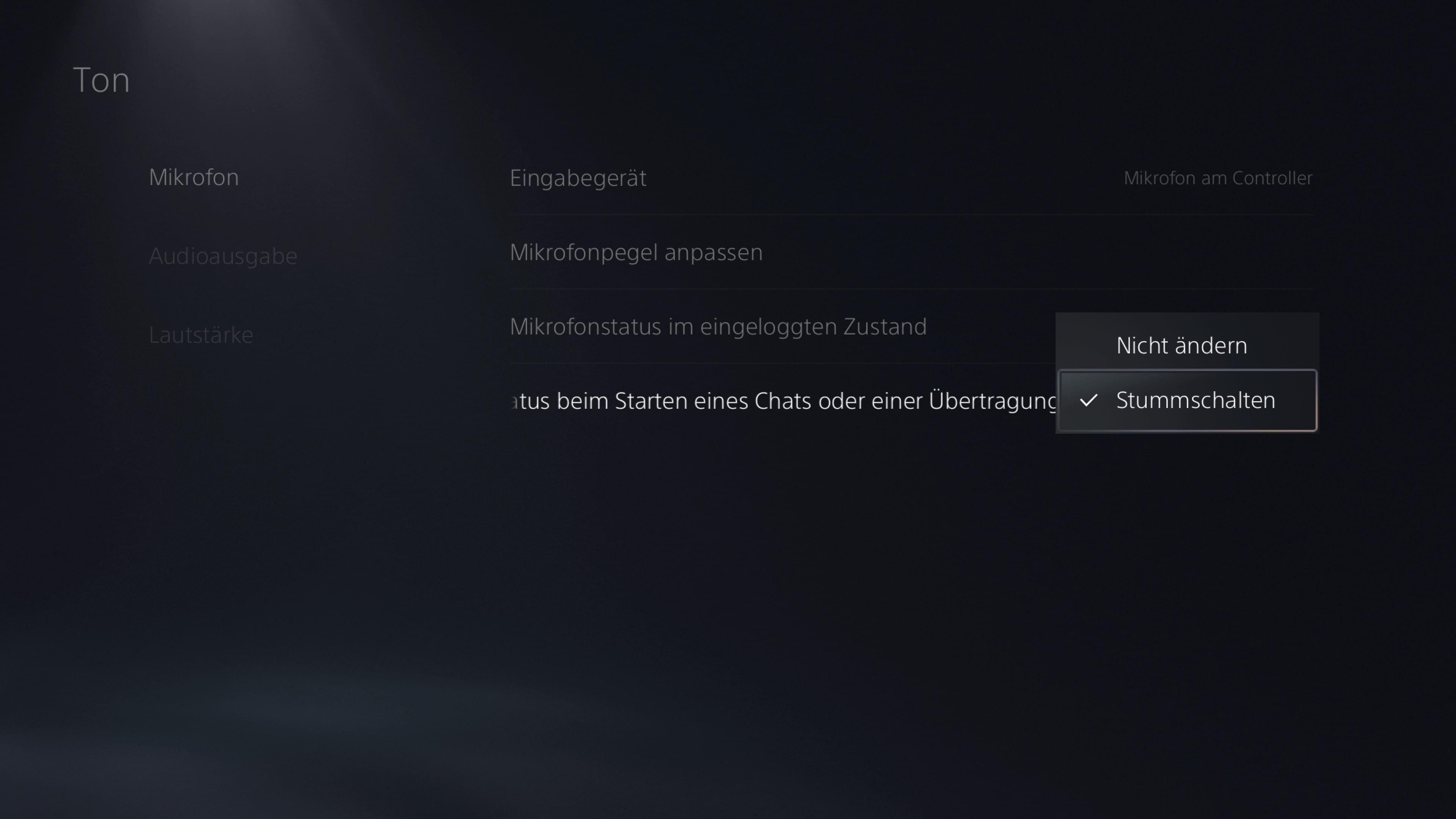 PS5 Mikro DualSense Stumm