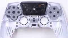 PS5 DualSense Controller Teardown Einzelteile