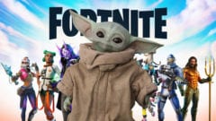 Fortnite Baby Yoda The Mandalorian Skin