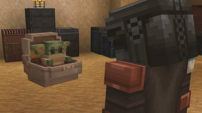 Minecraft The Mandalorian Baby Yoda