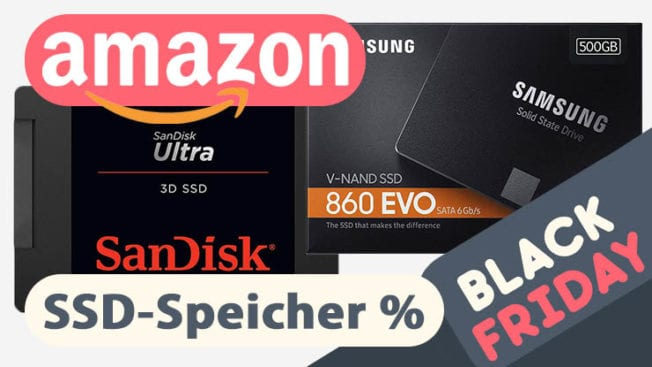 Rabatt auf SSD-Festplatten im Black Friday auf Amazon