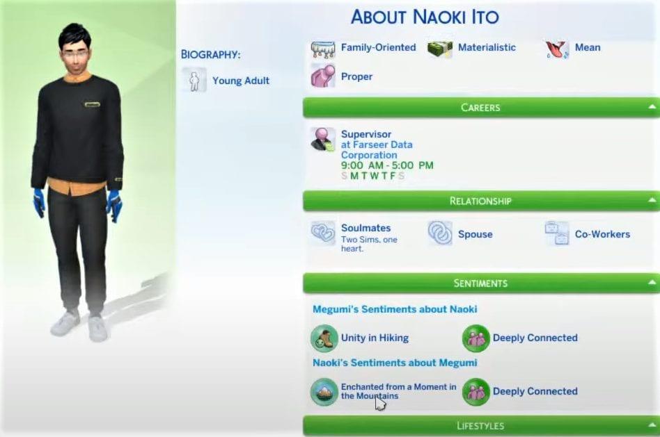 Die Sims 4 Gefühle Update November