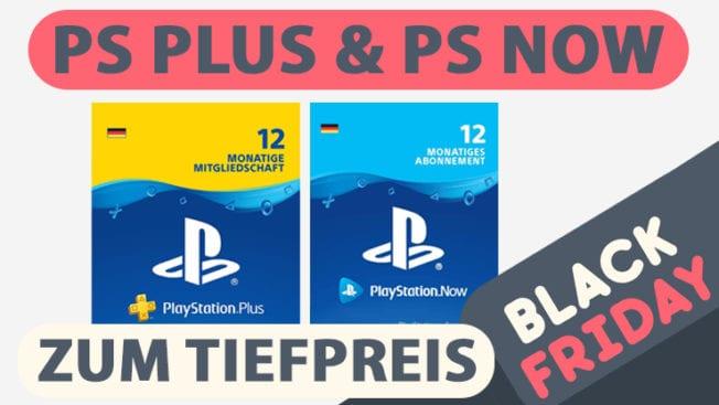 PS Plus PS Now Angebot Black Friday günstiger reduziert