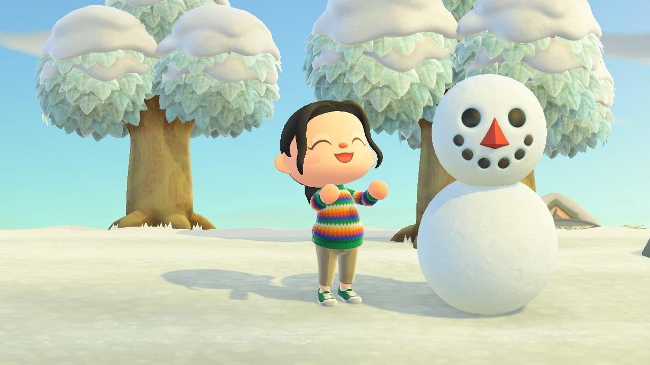 Animal Crossing New Horizons Schneemil bauen