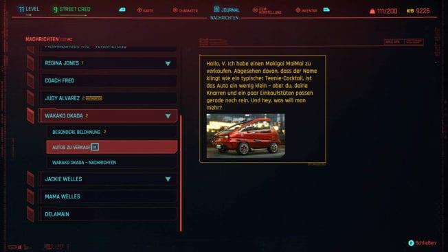 Cyberpunk 2077 - Autos kaufen und aktivieren - wie geht das?