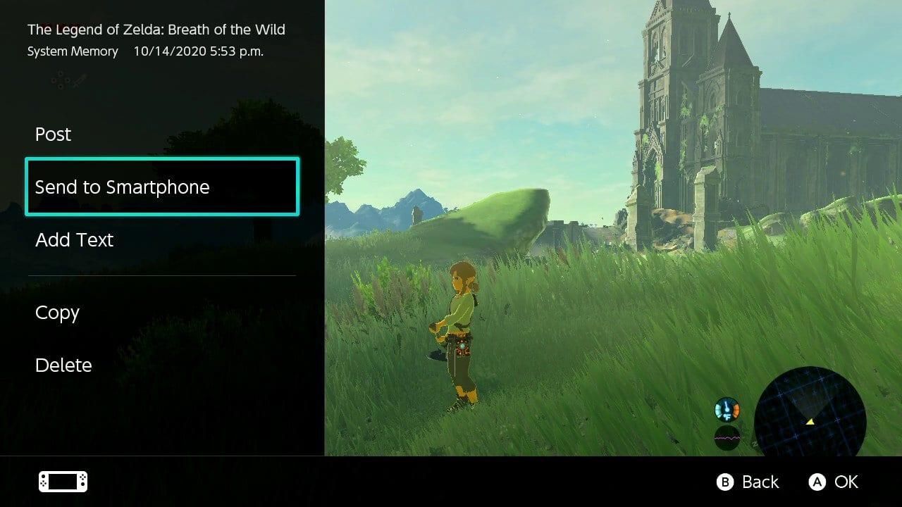 Nintendo Switch 11.0.0 - Bilder teilen via Smartphone