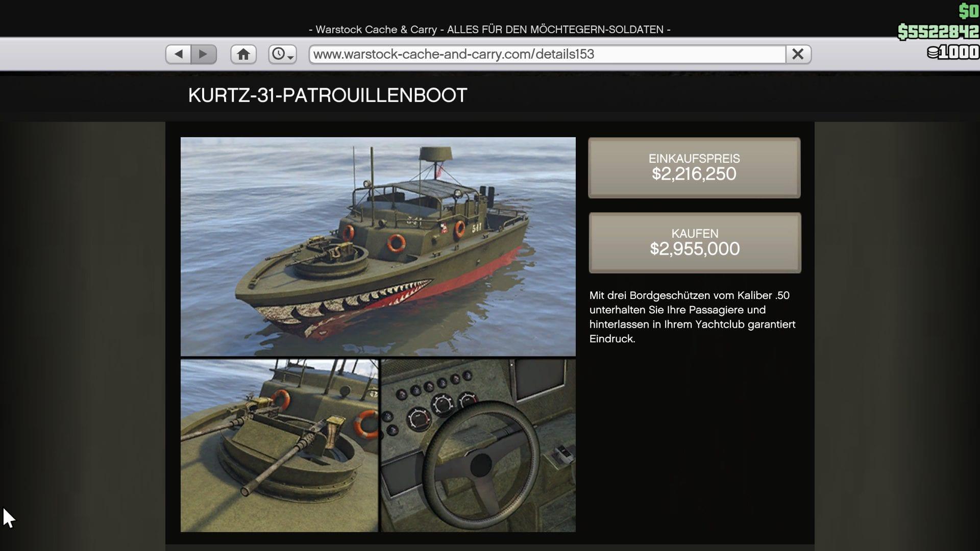 GTA Online - Kurtz-31-Patrouillenboot