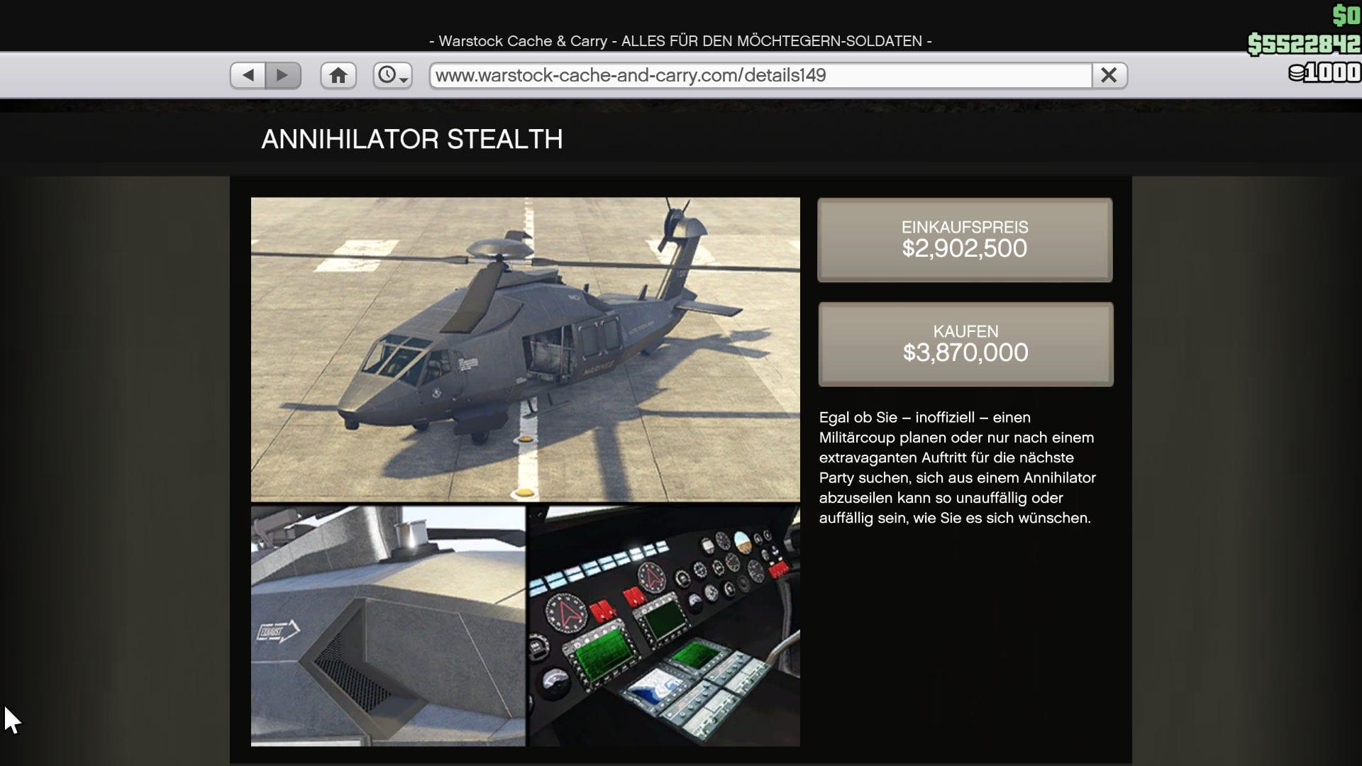 GTA Online - Annihilator Stealth