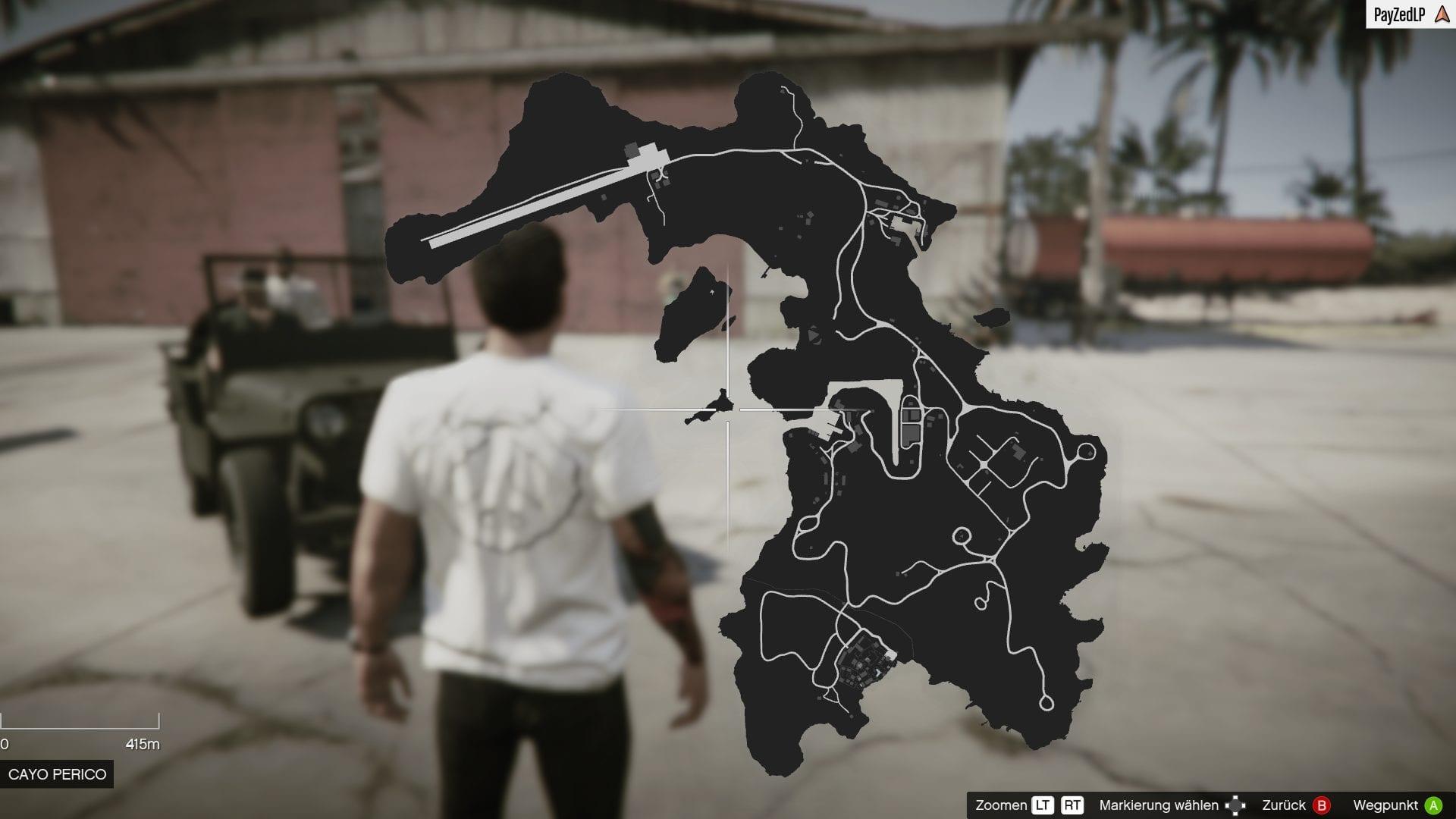 GTA Online - Karte von Cayo Perico