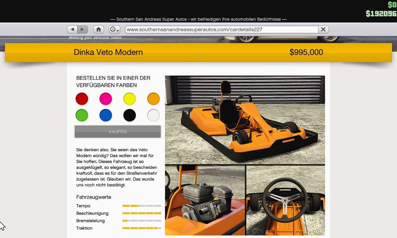 GTA Online - Dinka Veto Modern