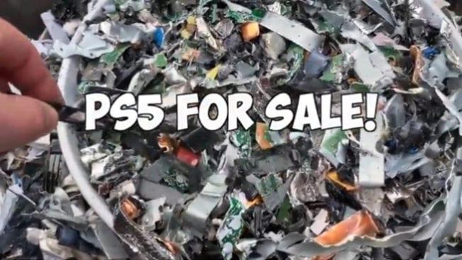 PS5-Sale - Konsole geschreddert