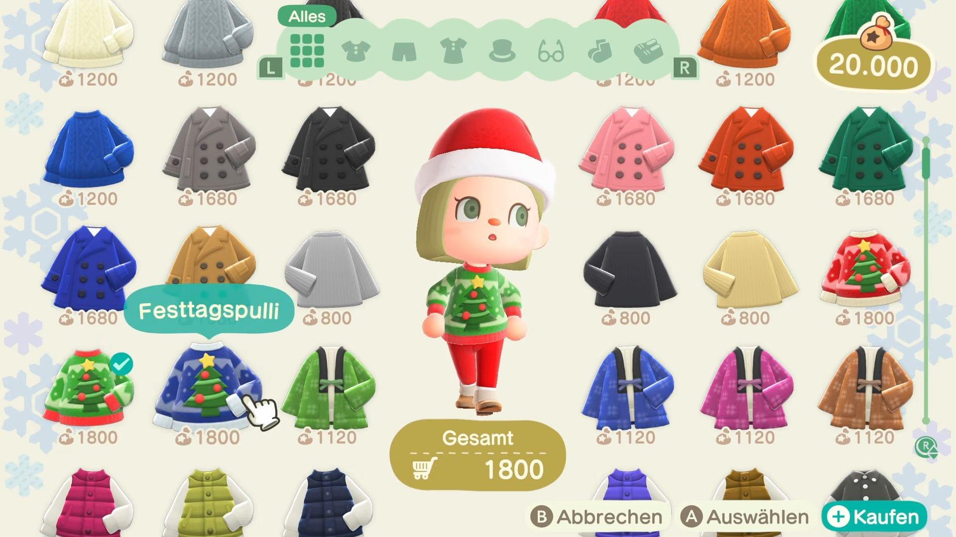 Animal Crossing New Horizons Festtag Dezember