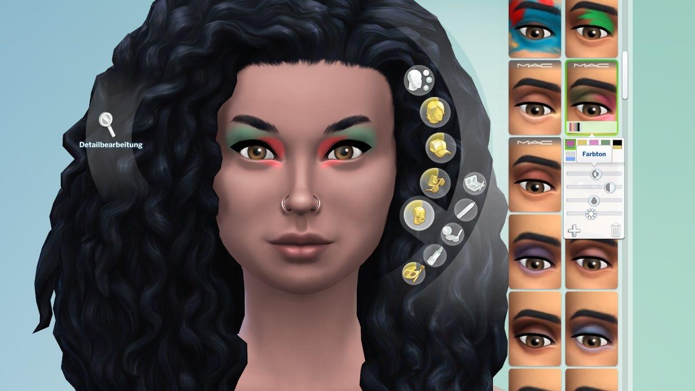 Die Sims 4 Make-Up Schieberegler
