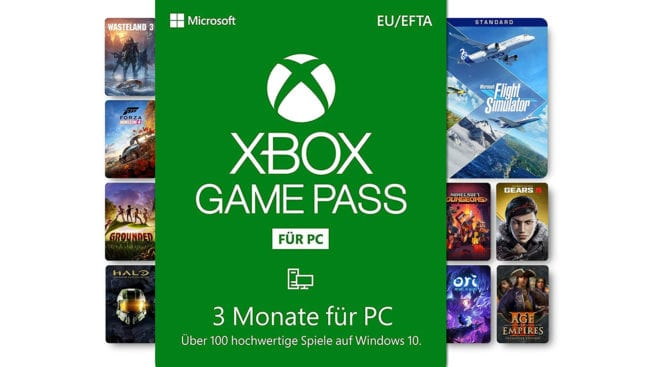 Xbox Game Pass 3 Monate für PC