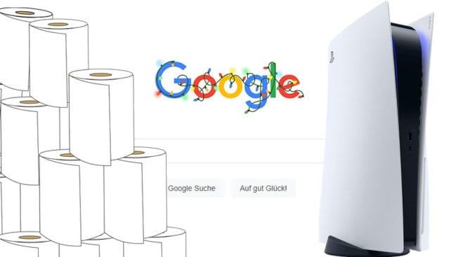 Google PS5 Trend Suchanfragen Klopapier