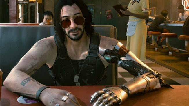 Johnny Silverhand Cyberpunk 2077 Prothese
