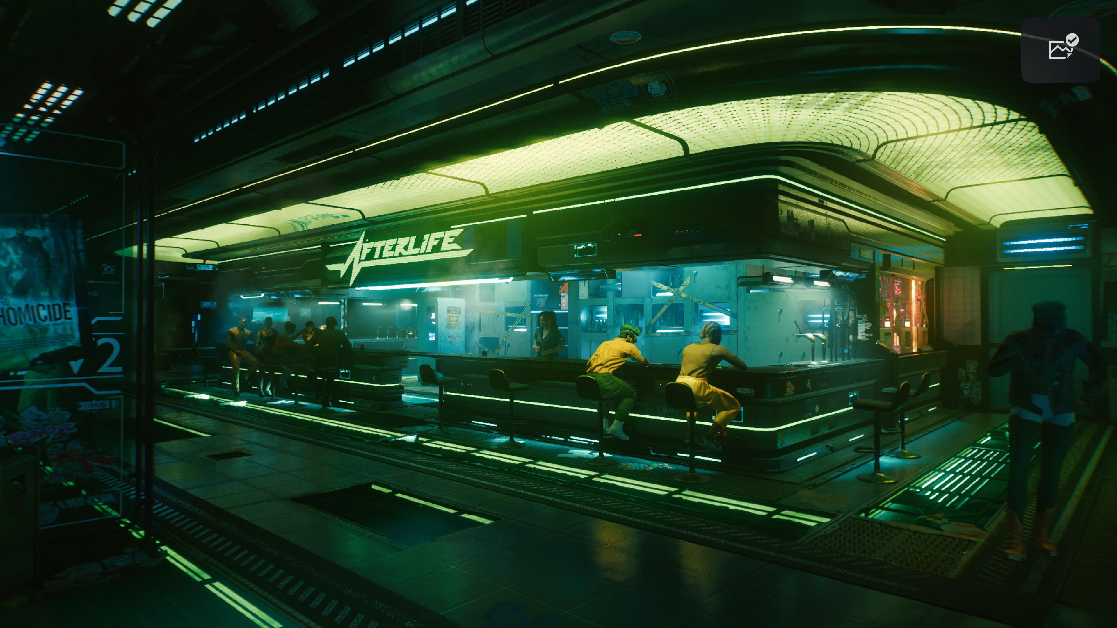 Cyberpunk 2077 - Das Afterlife in all seiner Pracht