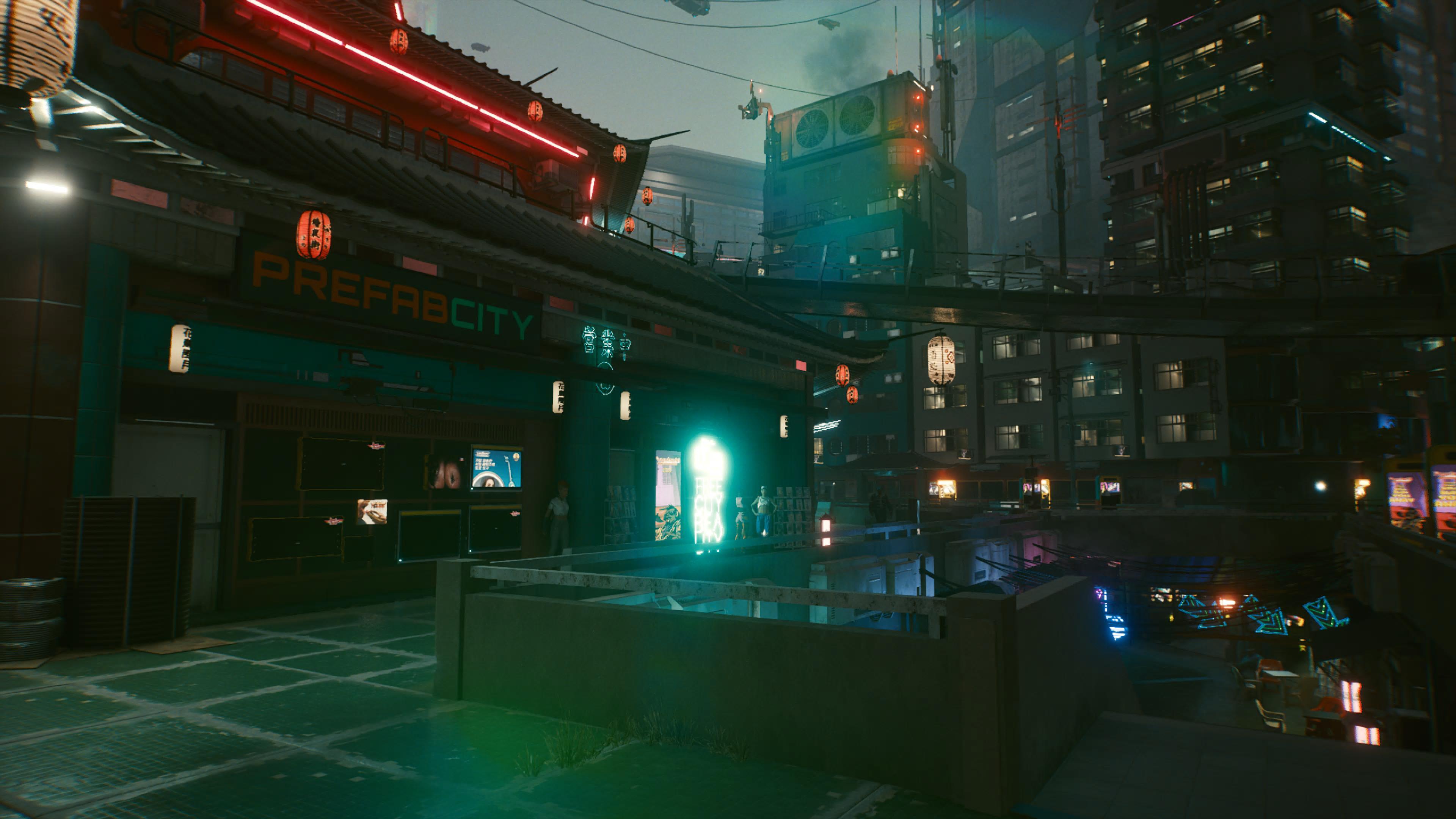Cyberpunk 2077 - Prefab City-Markt in Kabuki