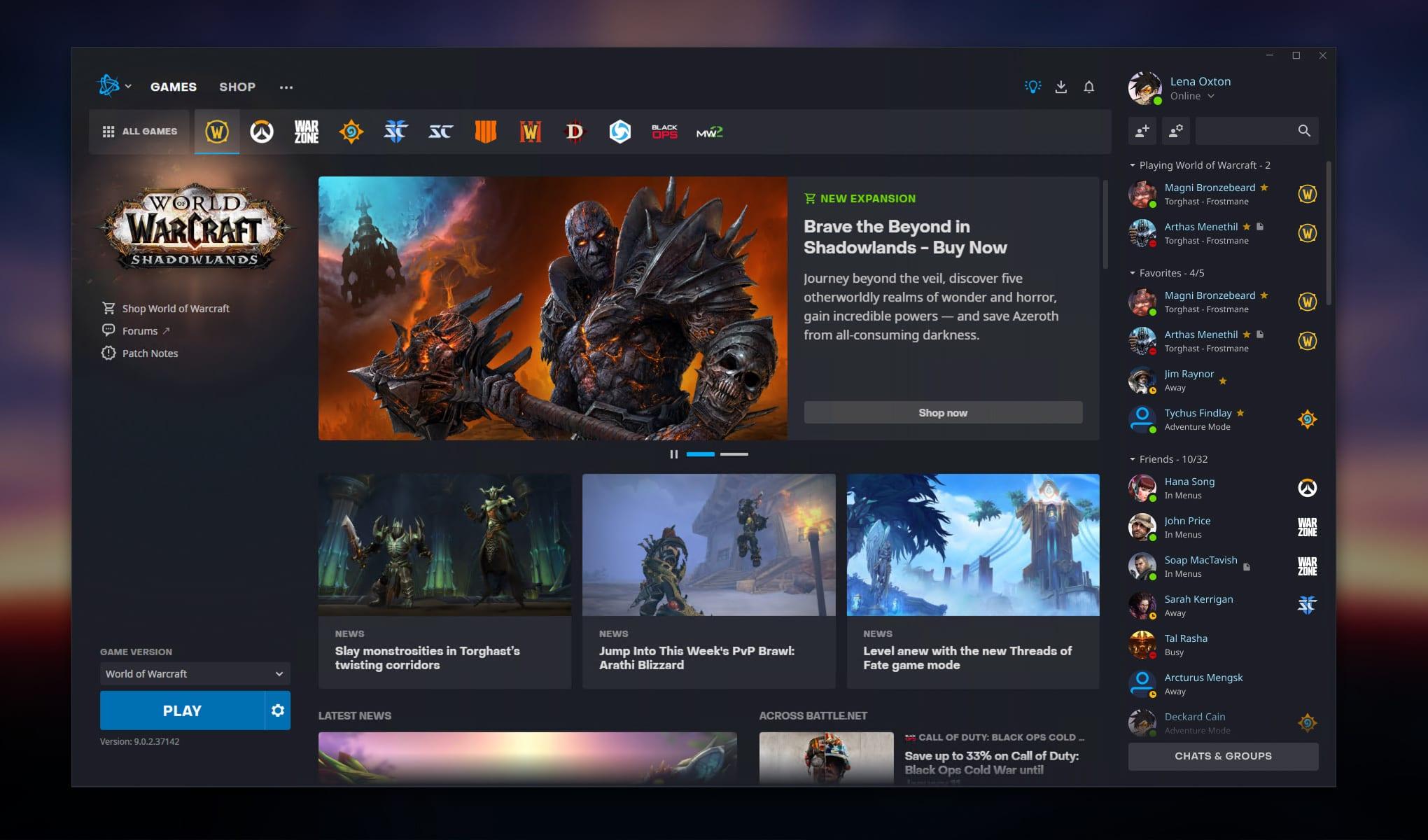 Neuer Blizzard-Launcher für Battlenet - Aussehen