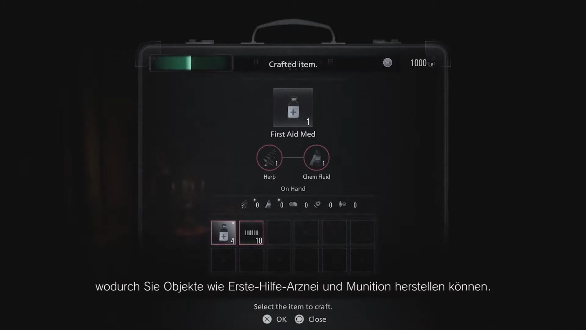Resident Evil 8 - Inventarsystem und Crafting vereint
