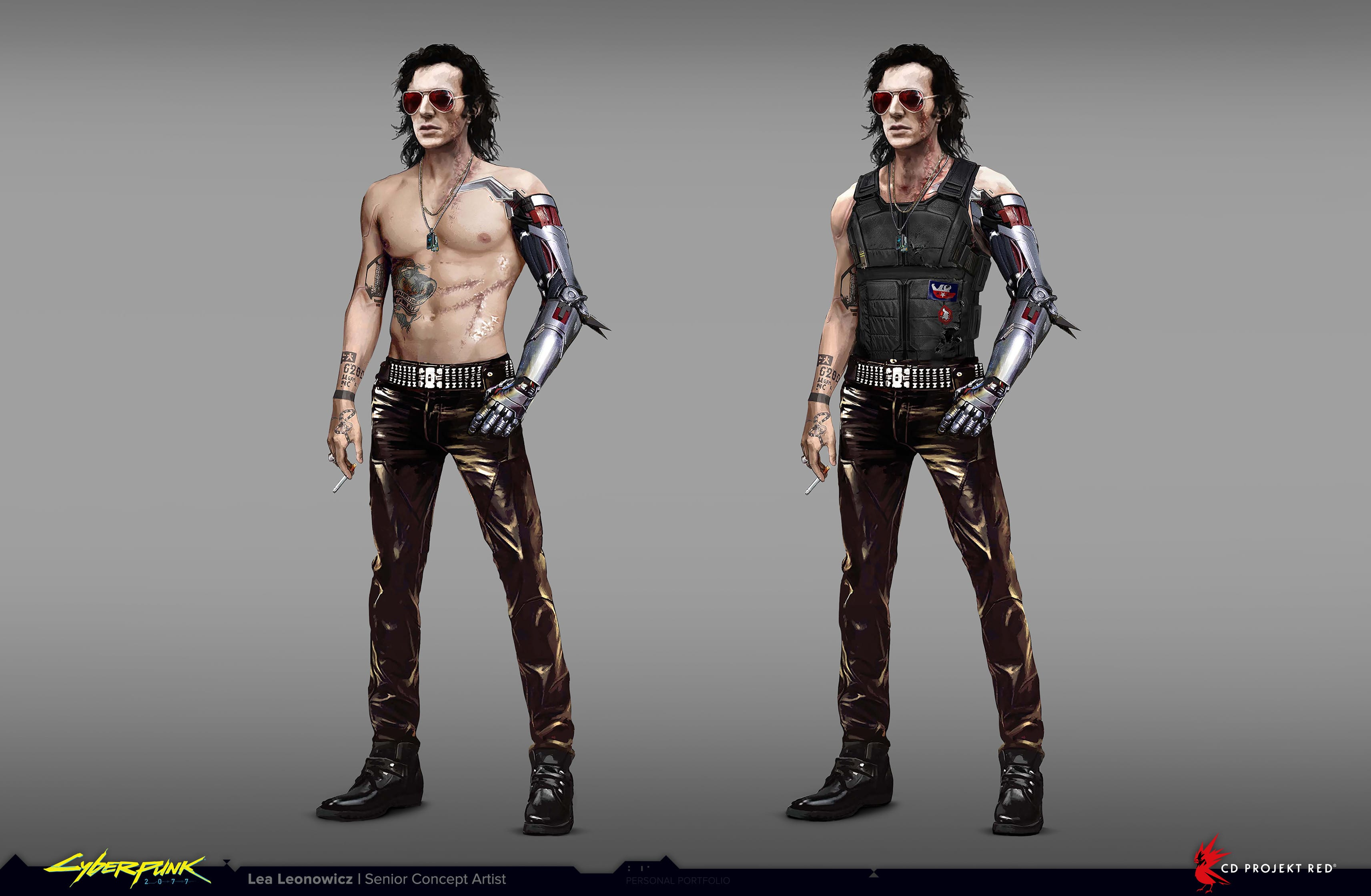 Cyberpunk 2077 Johnny Silverhand Konzept
